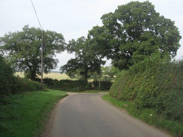 Sharp corner - Ivy Down Lane