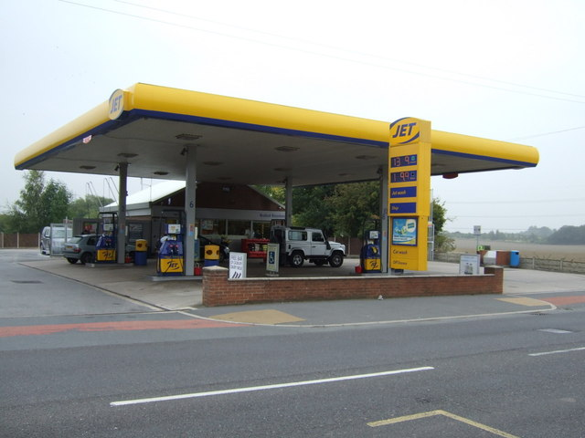 Service station on Royston Lane