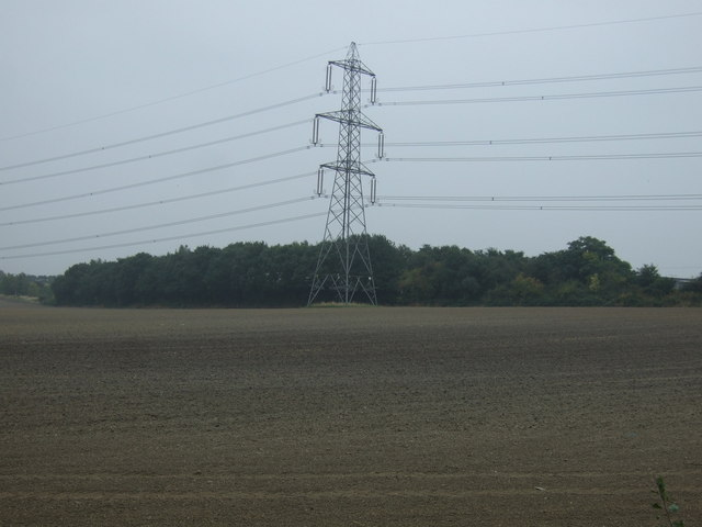 Farmland and pylon
