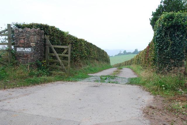 Entrance to Butland Farm