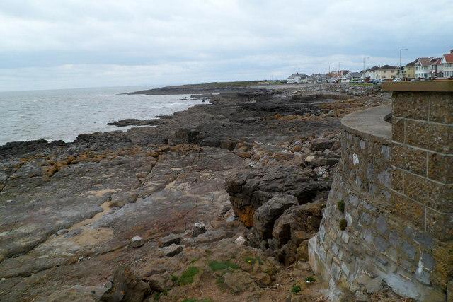 Rocky shoreline, Porthcawl