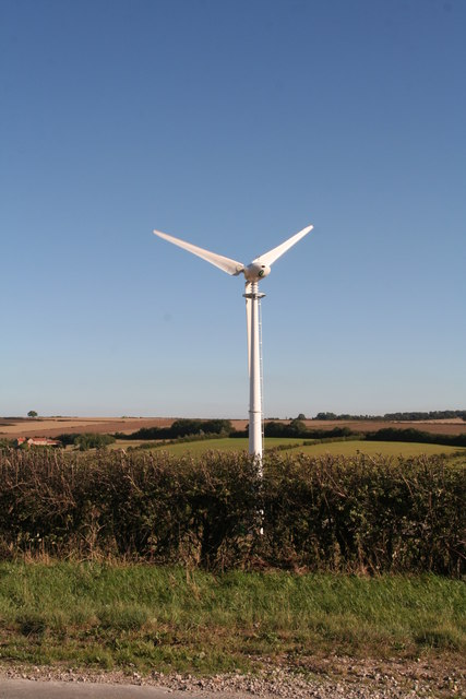 Wind turbine on Wrangmandale Wold: yet another turbine in a wind turbine landscape