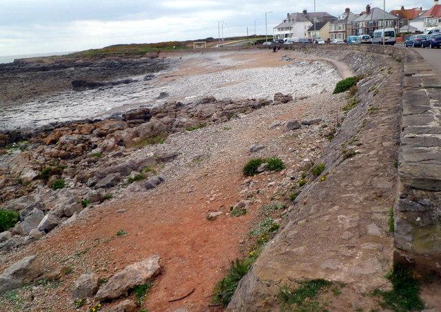 Porthcawl shoreline near Hutchwns Point
