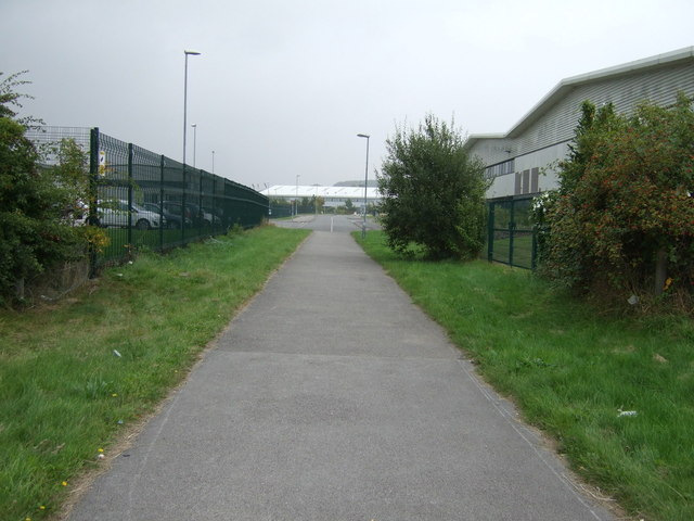 Path to industrial estate