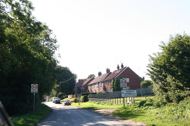 Entering North Newbald from the North East