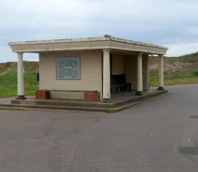 Coastal shelter near Lock's Common Porthcawl