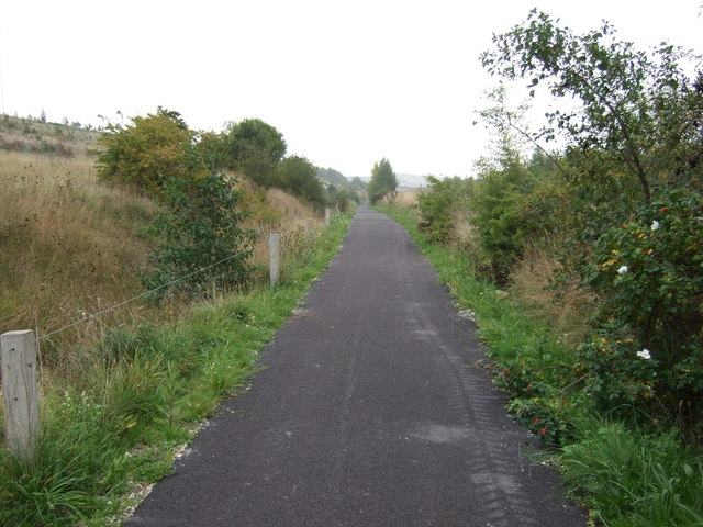 Cycle track beside the A6195