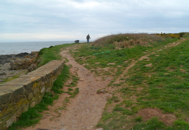 Coastal track at the edge of Lock's Common Porthcawl