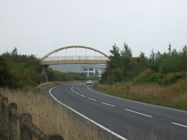 Foot bridge over the A6195