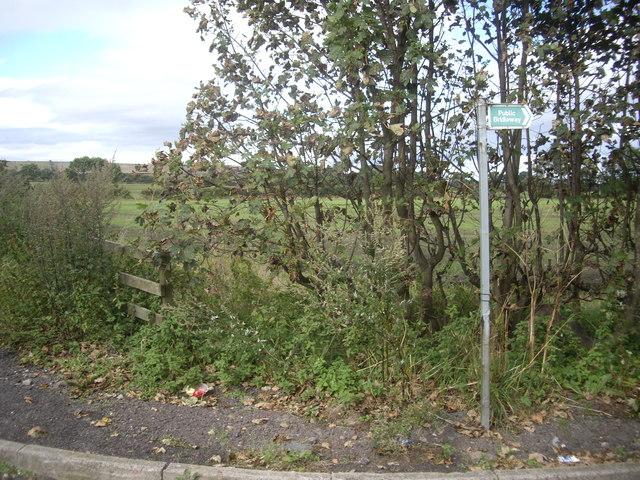 Public Bridleway signpost