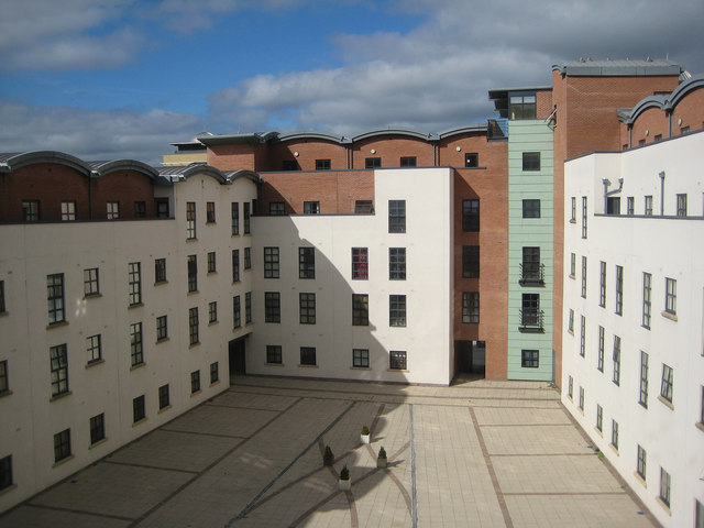 Courtyard, Curzon Place, Gateshead