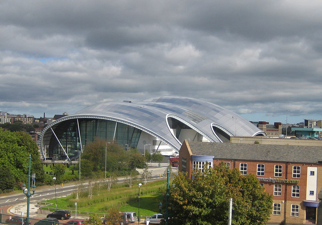 The Sage viewed from Curzon Place