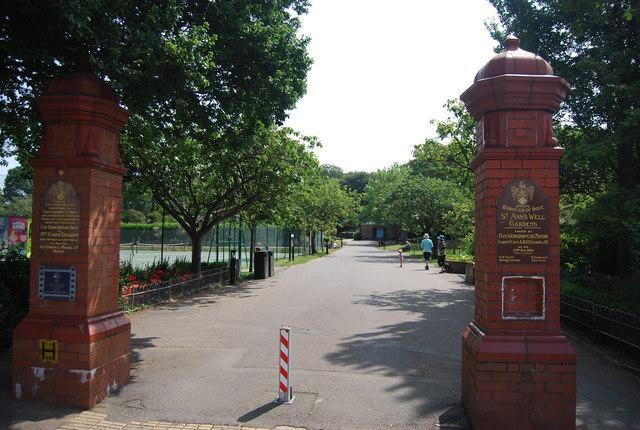 Entrance, St Ann's Well Gardens
