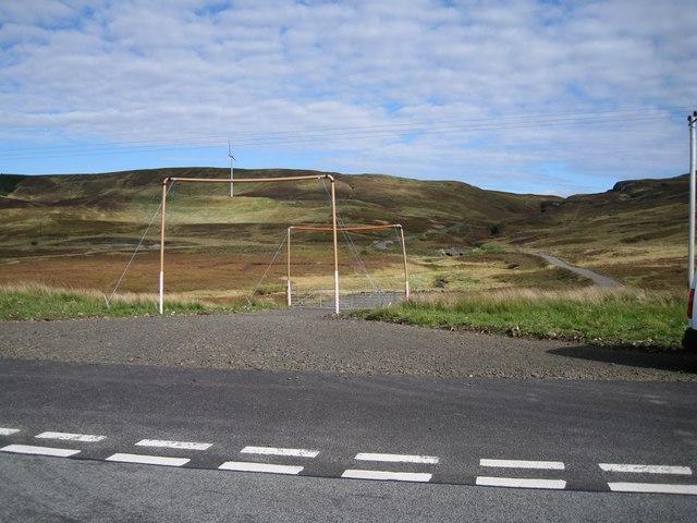 Entrance to Meadle Windfarm site