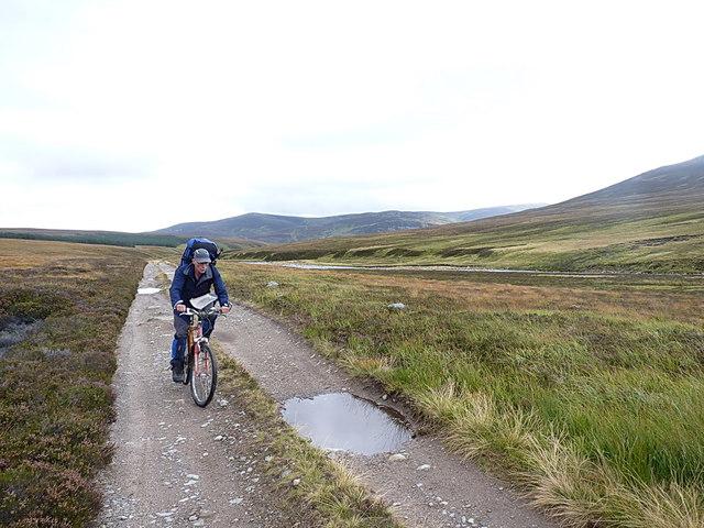 On the Geldie Burn track