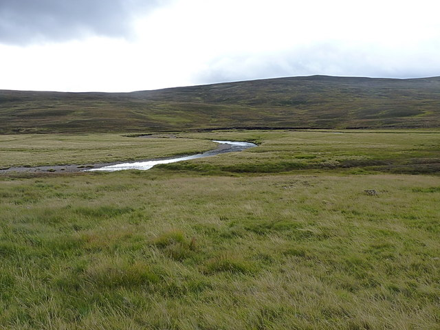 Meanders in the Geldie Burn