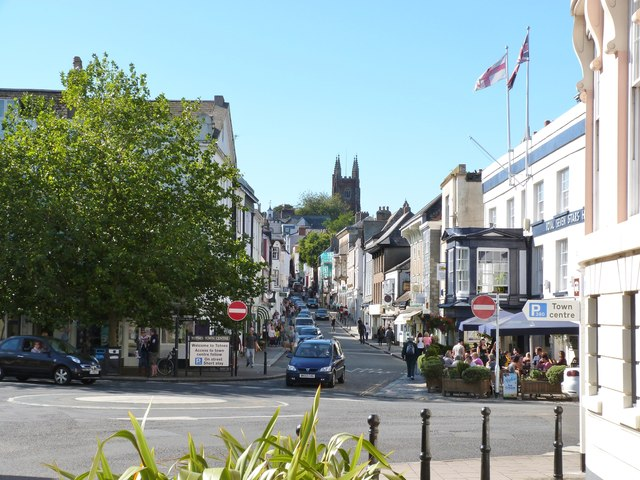 View looking West up Fore Street, Totnes