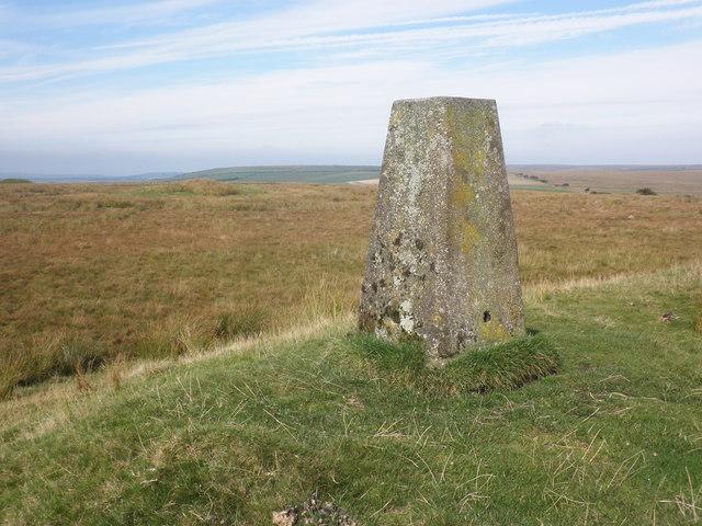 Triangulation pillar, on Five Barrows Hill