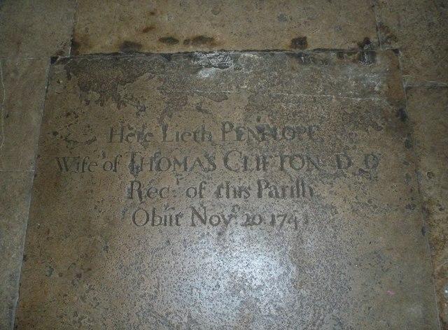 St Mary, Boyton: memorial (a)