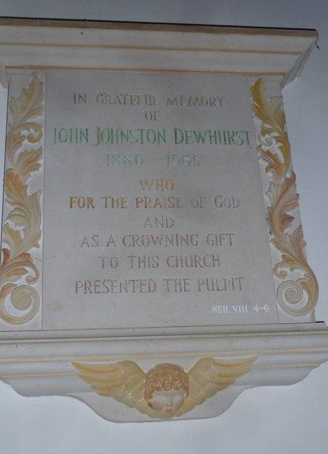 St Mary, Boyton: memorial (b)