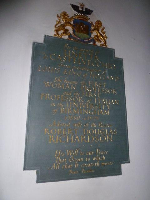 St Mary, Boyton: memorial (e)