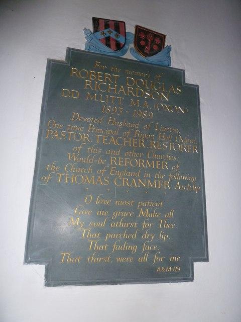 St Mary, Boyton: memorial (f)