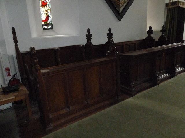 St Mary, Boyton: choir stalls