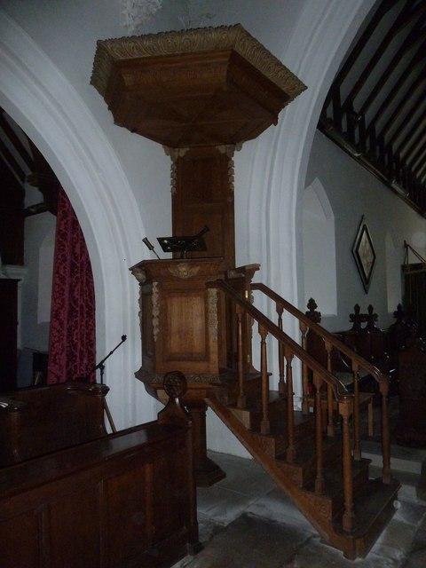 St Mary, Boyton: pulpit