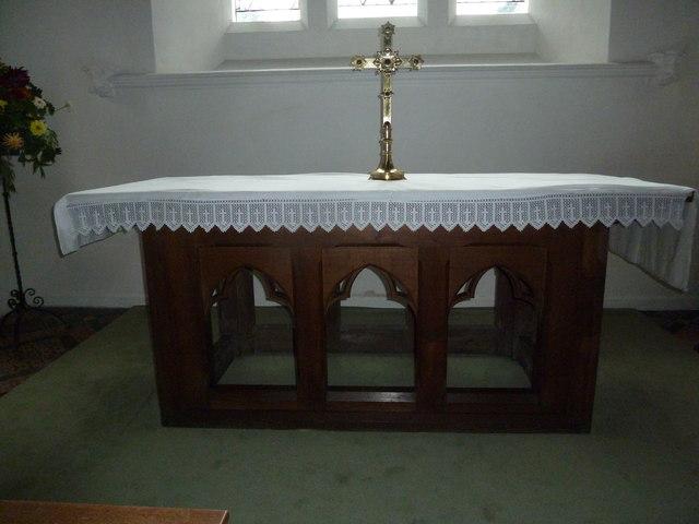 St Mary, Boyton: altar
