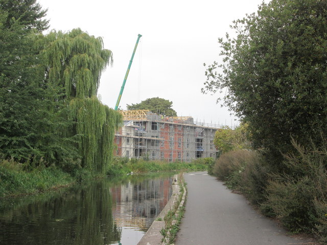 Building work by the canal at Ilkeston