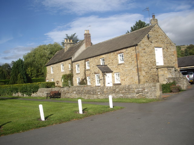 Old village houses in Lanchester
