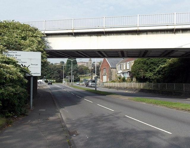 Carmarthen Road railway bridge, Swansea
