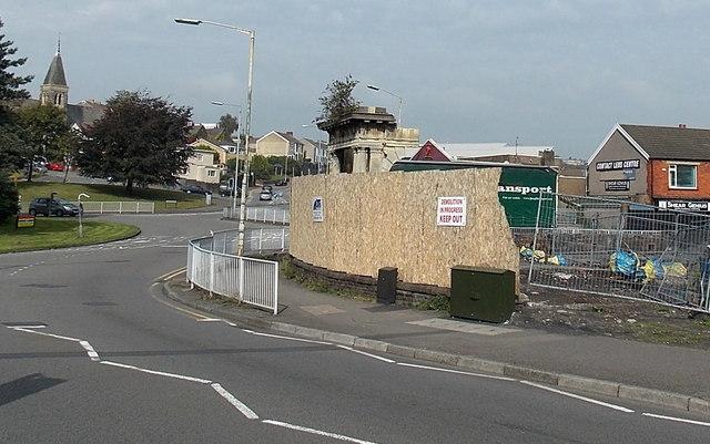 Demolition site in Cwmbwrla Swansea