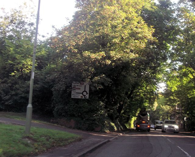 Romsey Road approaching Sleepers Hill roundabout