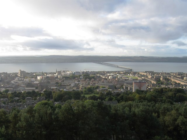 Tay Bridge from Dundee Law