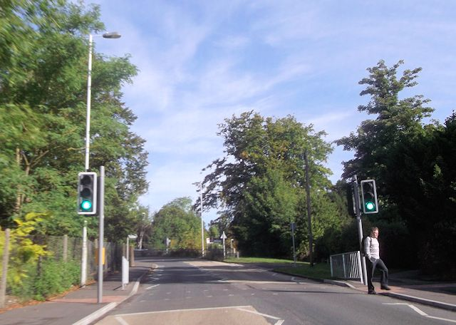Andover Road approaching pedestrian crossing