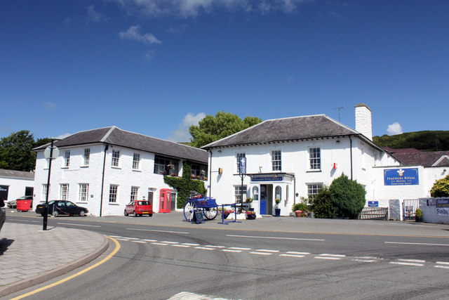 Royal Feathers Hotel by the A482 Alban Square