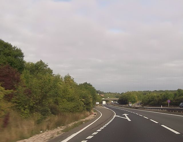 A34 road junction at Beacon Hill