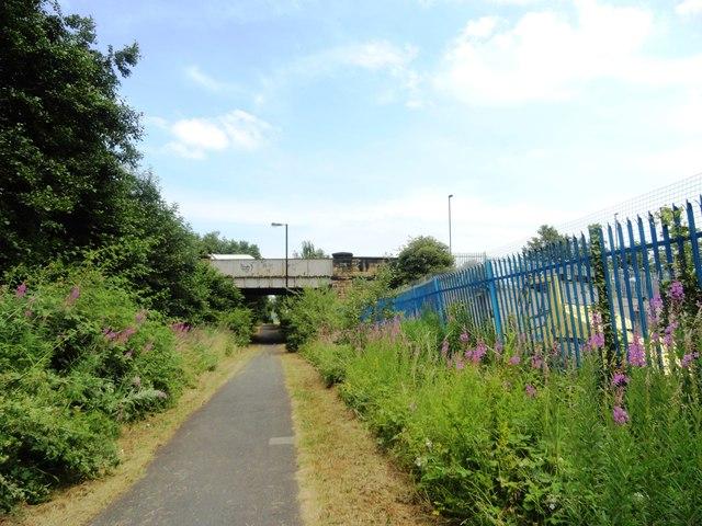 Bridge across the old railway at Wallsend
