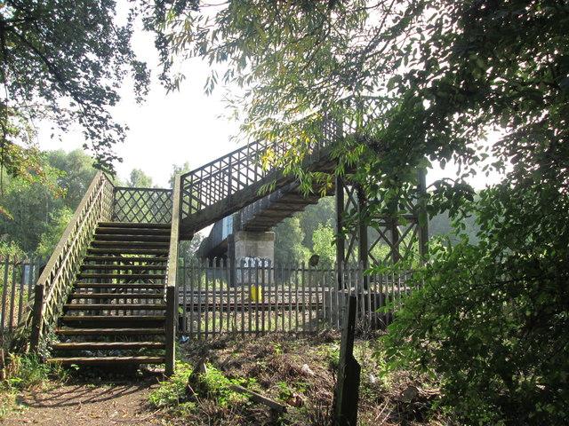 Footbridge over the railway between Sandiacre and Stapleford