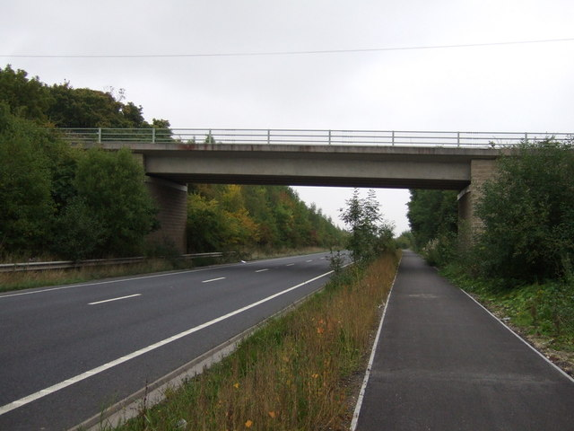 Bridge over the A6195