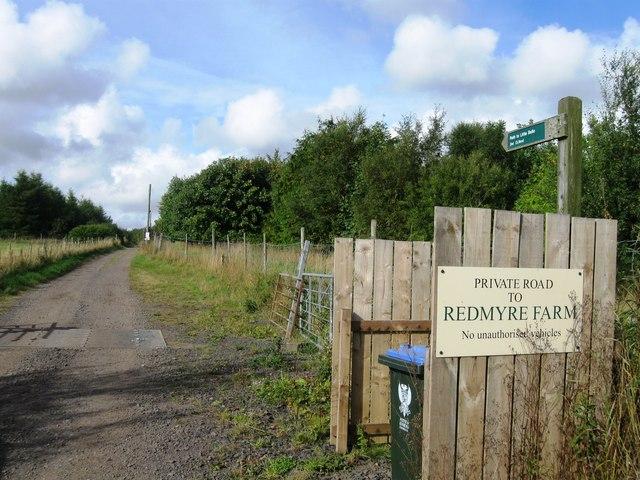 Private road to Redmyre Farm