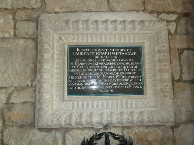 Sherborne Abbey: memorial (ii)