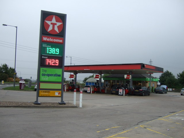 Service station off the A635