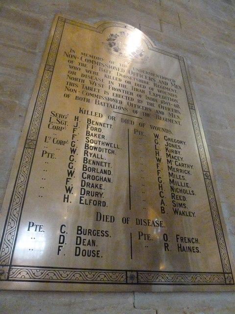 Sherborne Abbey: memorial (iii)