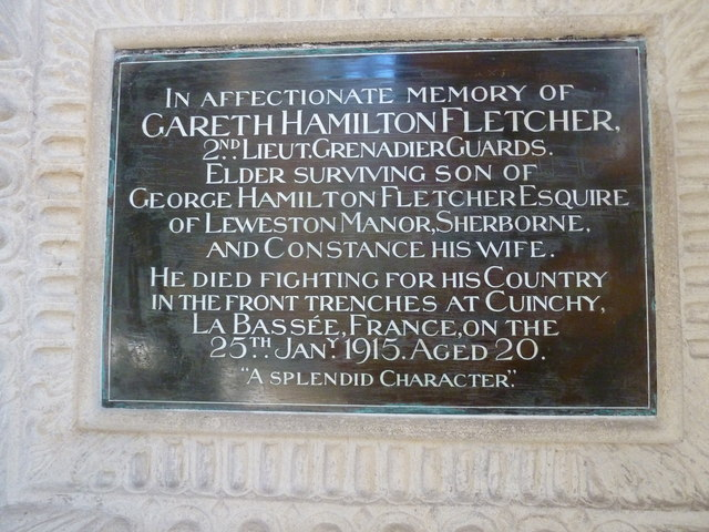 Sherborne Abbey: memorial (iv)