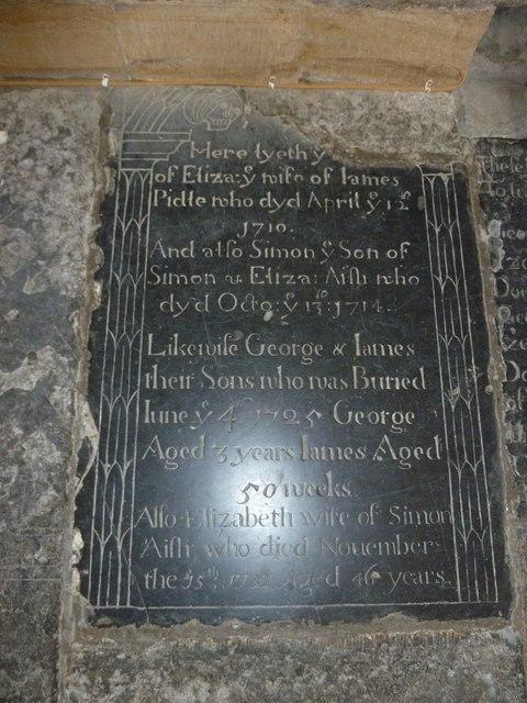 Sherborne Abbey: memorial (vi)