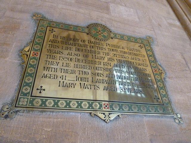 Sherborne Abbey: memorial (vii)