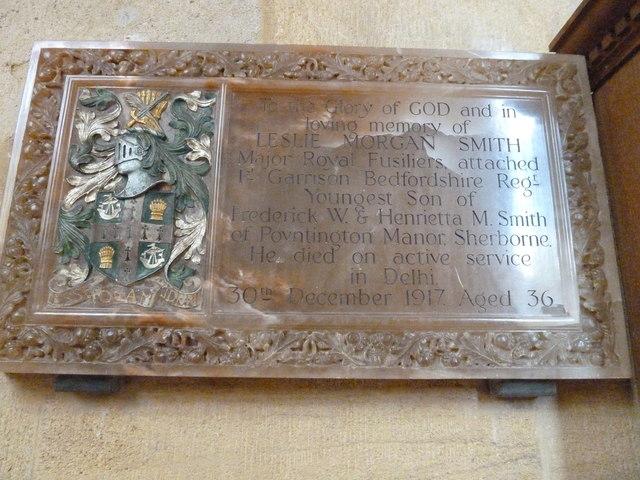 Sherborne Abbey: memorial (viii)