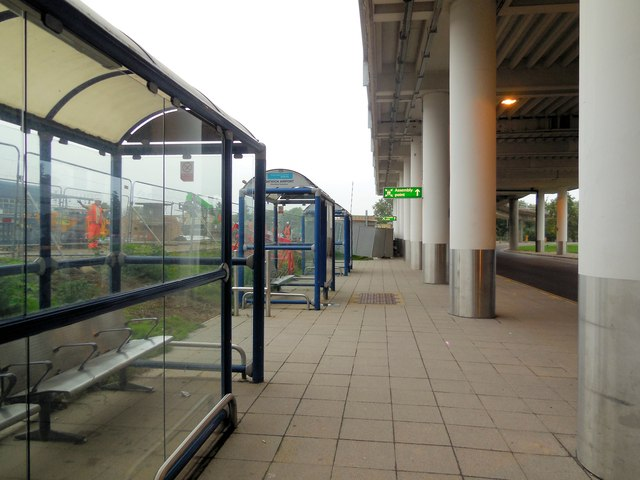 Bus stops outside Gatwick South Terminal